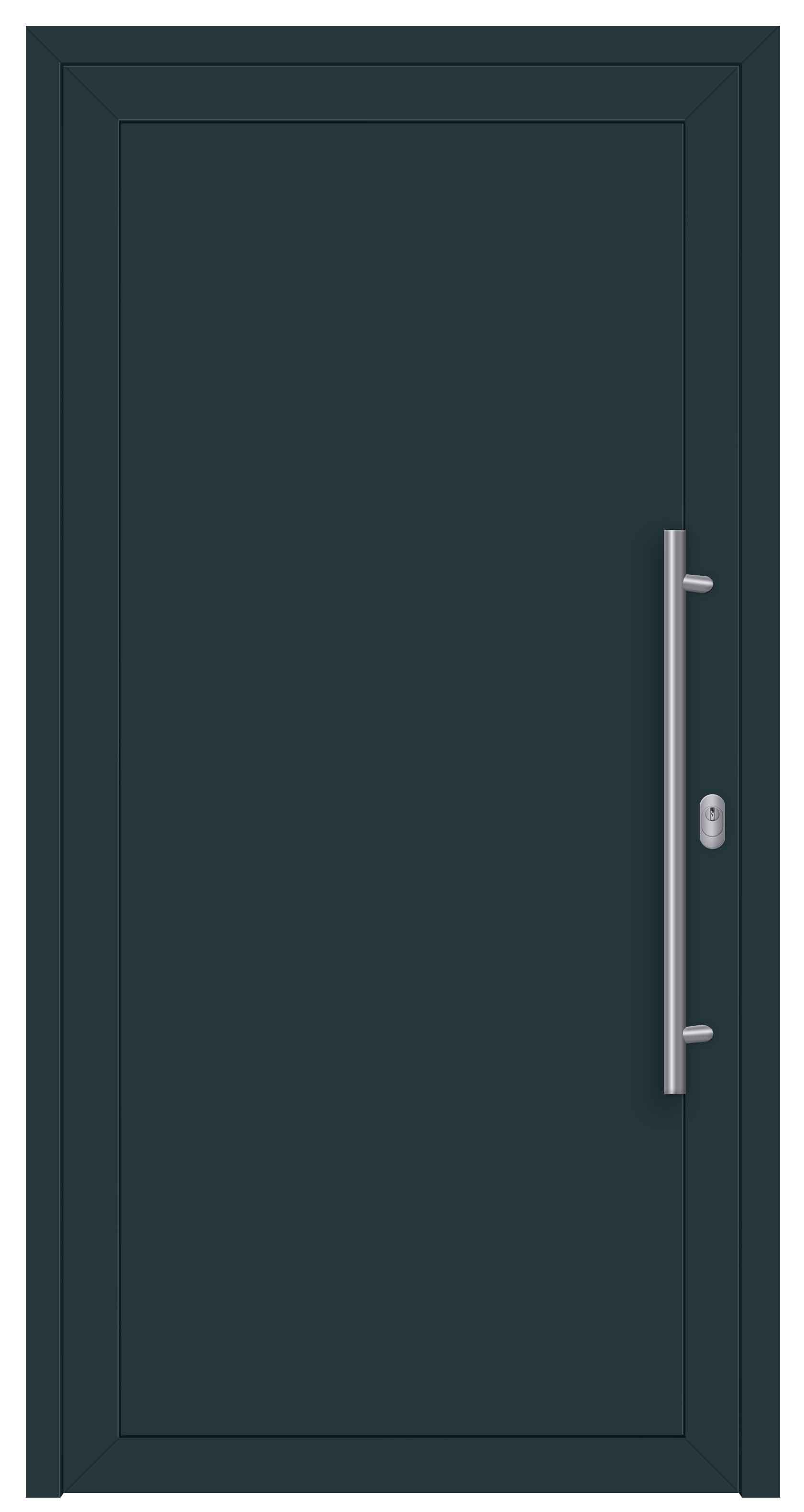 S003 Side_Speed Aluminiumhaustür Innen 7016 /Außen 7016