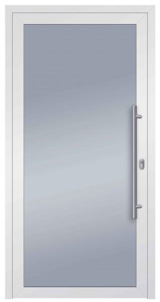 S004 Glas_Speed Aluminiumhaustür Innen 9016 /Außen 9016
