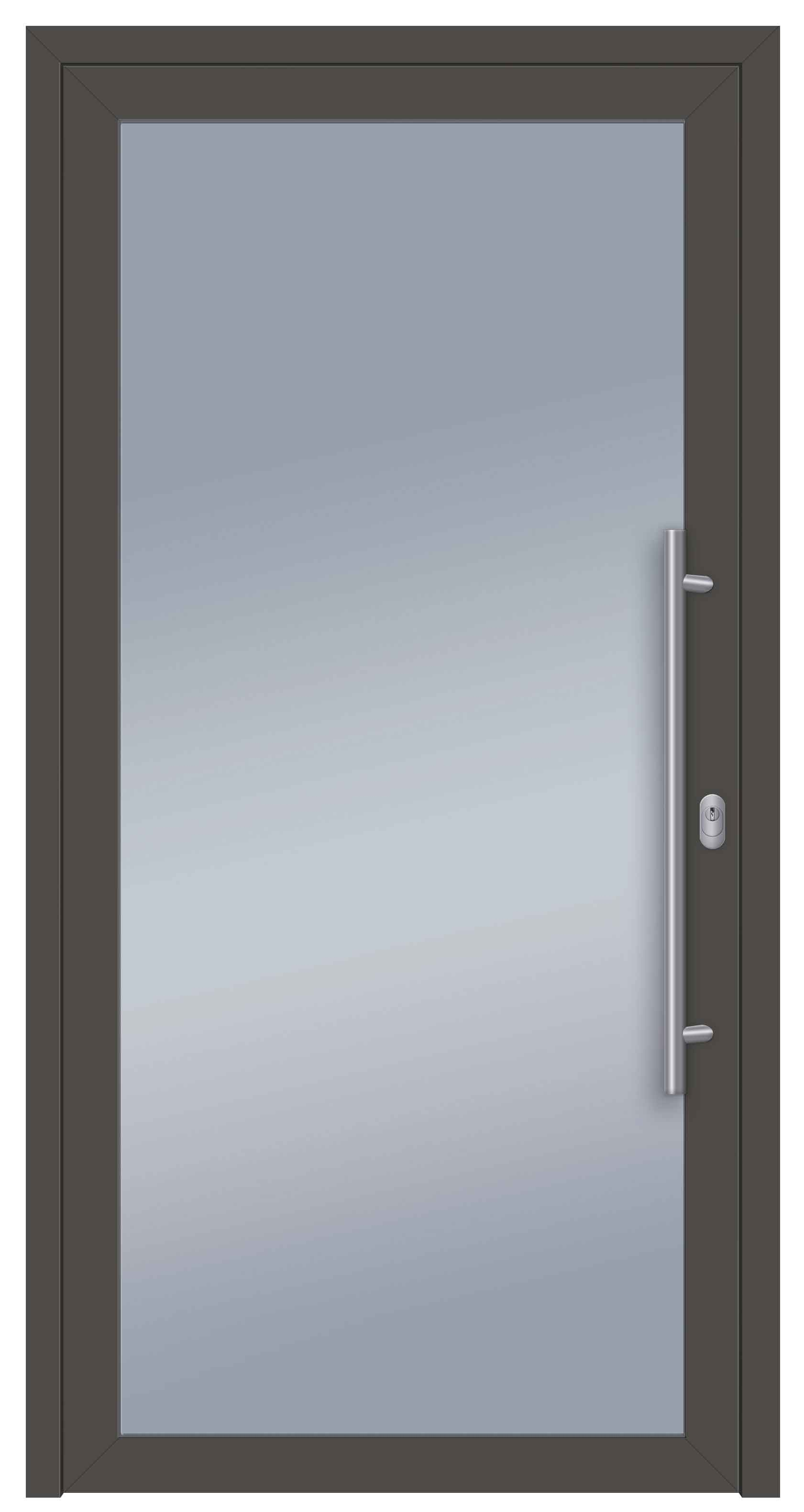 S004 Glas_Speed Aluminiumhaustür beidseitig DB703