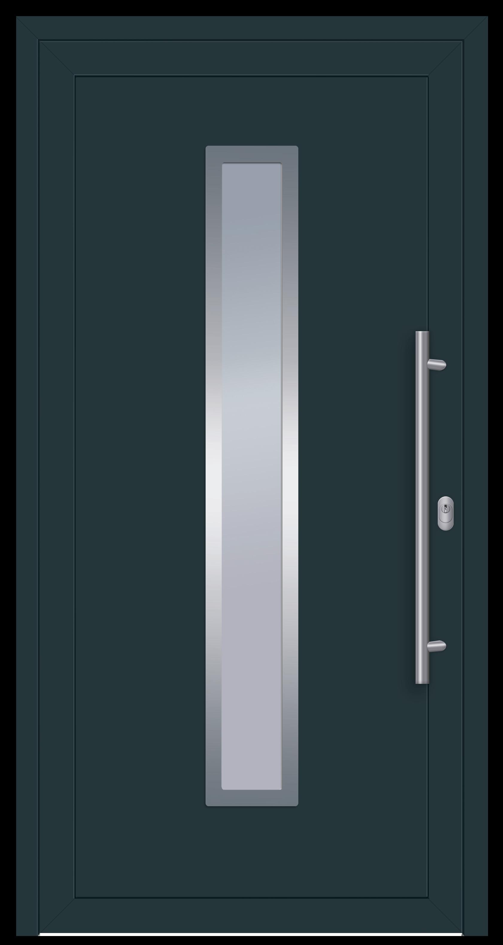 S001 Linie_Speed Aluminiumhaustür beidseitig Ral 7016