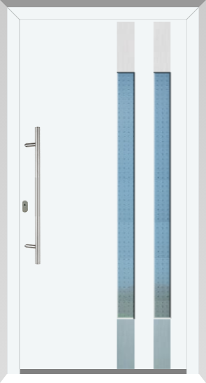 492 Aluminiumhaustür eFD innen & außen Ral 9016