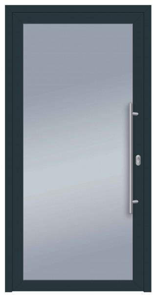 S004 Glas_Speed Aluminiumhaustür beidseitig Ral 7016