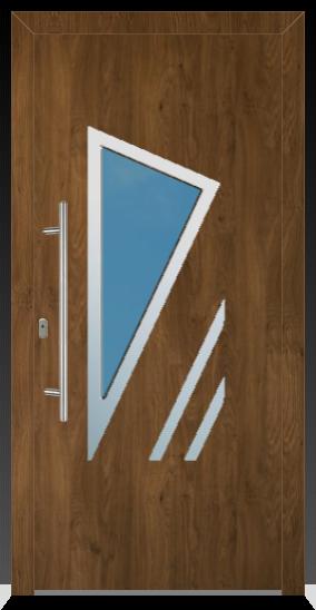 691 Kunststoffhaustür Flügelüberdeckend Innen Weiß / Außen Winschester