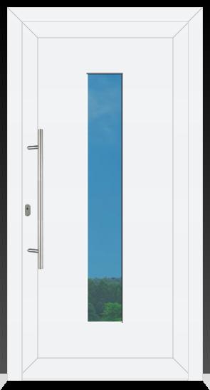912 Kunststoffhaustür Innen Weiß / Außen Weiß
