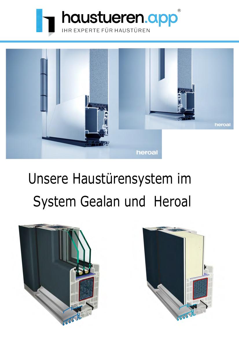 Haustürensystem Gealan und Heroal